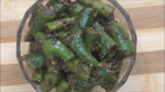 Instant pickle of green chillies